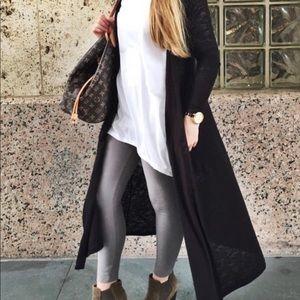 NWT Lularoe Sarah solid black cardigan duster XL